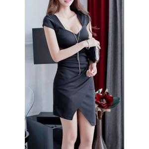 Attractive Sweetheart Neck Hollow Out Asymmetric Dress For Women -