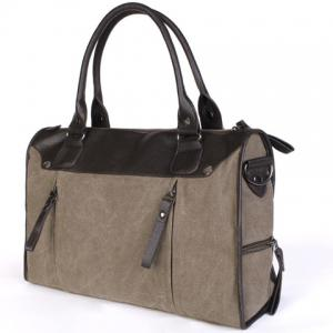 Casual Splicing and Canvas Design Briefcase For Men -