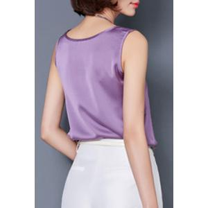Graceful Solid Color Silky Tank Top For Women -