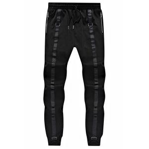 Loose Fit Narrow Feet Lace Up Sweatpants For Men