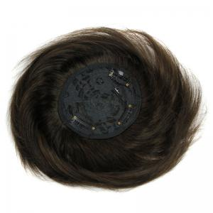 Fashionable 100 Percent Brazilian Human Hair Clip-In Straight Toupee -