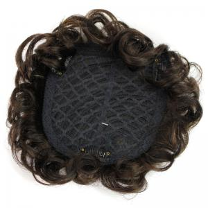 Fluffy Short Curly Vogue Clip In Brazilian Human Hair Toupee -