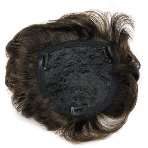 100 Percent Brazilian Human Hair Shaggy Natural Straight Stylish Clip-In Toupee -