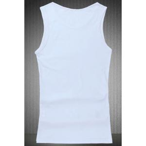 Loose Fit Round Collar Cartoon Printing Tank Top For Men -