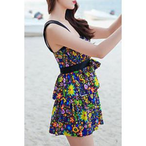 Refreshing Colorful Bowknot Two Piece Swimsuit For Women -