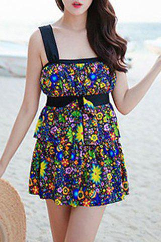 Outfits Refreshing Colorful Bowknot Two Piece Swimsuit For Women