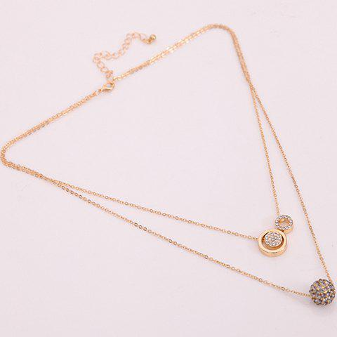 Outfits Circle Multilayered Rhinestone Necklace