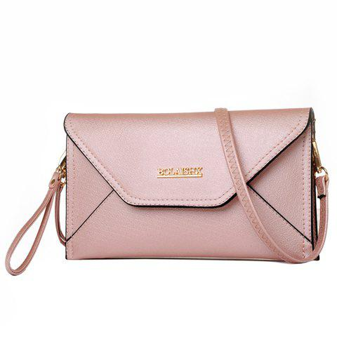 Cheap Fashion Cover and Solid Color Design Crossbody For Women - PINK  Mobile