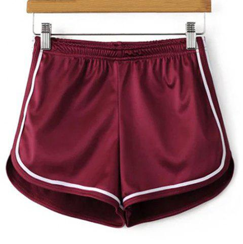 New Sporty Dolphin Running Shorts WINE RED S