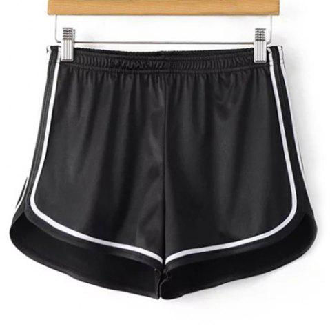 Online Sporty Dolphin Running Shorts BLACK S