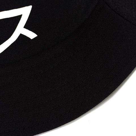 Outfit Chic Japanese Words Print Bucket Hat For Men - BLACK  Mobile