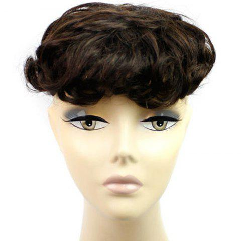 Unique Fluffy Short Curly Vogue Clip In Brazilian Human Hair Toupee