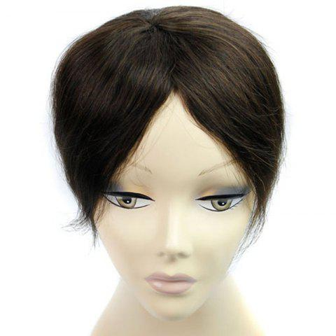 Cheap Fashionable 100 Percent Brazilian Human Hair Clip-In Straight Toupee