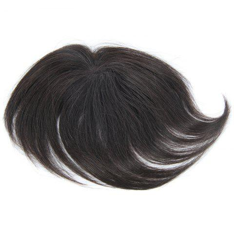 Online Brazilian Human Hair Trendy Clip-In Straight Natural Black Toupee