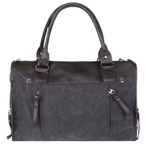Store Casual Splicing and Canvas Design Briefcase For Men