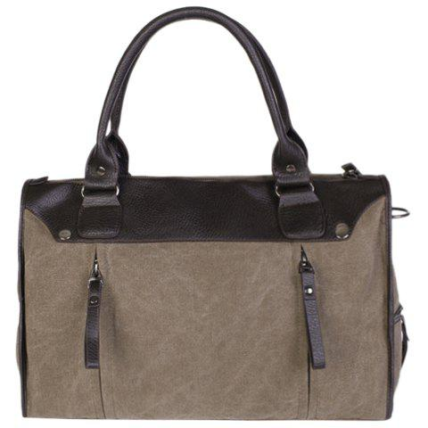 Buy Casual Splicing and Canvas Design Briefcase For Men