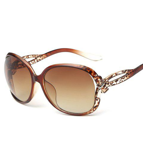 Shops Chic Small Bow Embellished Leopard Pattern Ombre Sunglasses For Women TEA COLORED