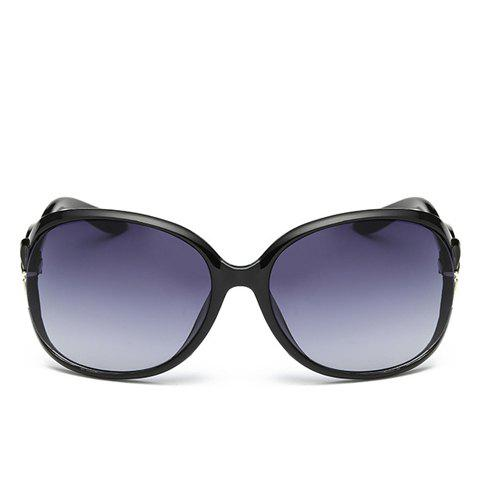 Affordable Tiny Bow Embellished Hollow Out Leg Affordable Polarized Sunglasses - BLACK  Mobile