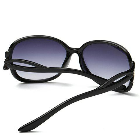 Unique Tiny Bow Embellished Hollow Out Leg Affordable Polarized Sunglasses - BLACK  Mobile