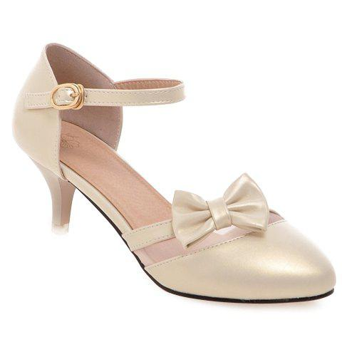 Cheap Ladylike Two-Piece and Mesh Design Pumps For Women