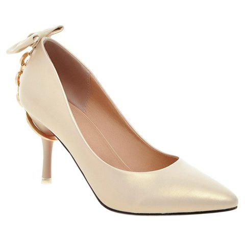 Outfit Graceful Metallic and Bowknot Design Pumps For Women
