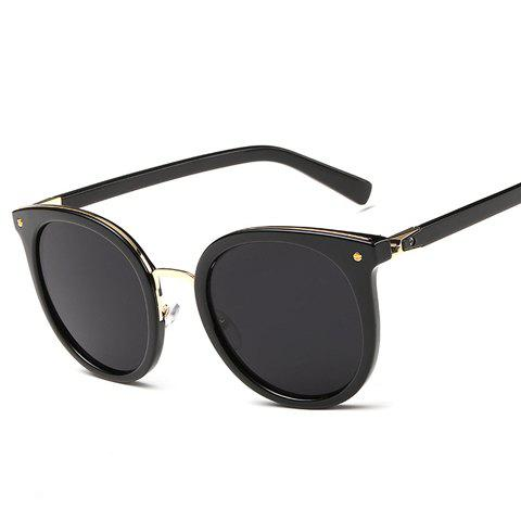 Store Chic Metal Nose Bridge Black Cat Eye Sunglasses For Women
