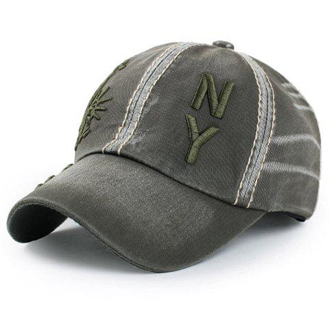 Buy Chic Statue of Liberty Letters Embroidery Baseball Hat For Men