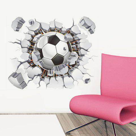 New 3D Football Broken Wall Removeable Wall Stickers Sports - COLORMIX  Mobile
