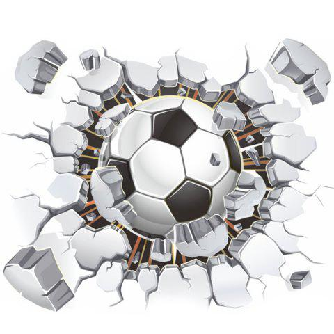 Trendy 3D Football Broken Wall Removeable Wall Stickers Sports - COLORMIX  Mobile