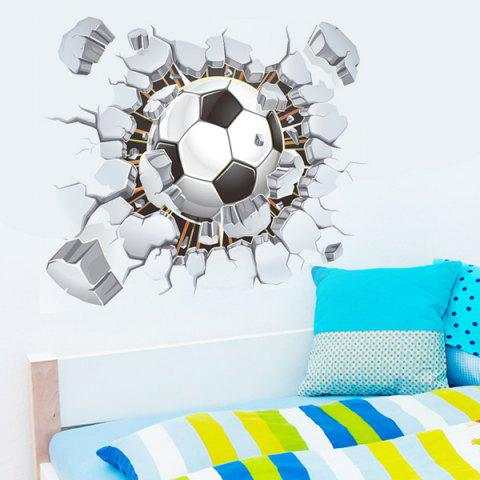 Affordable 3D Football Broken Wall Removeable Wall Stickers Sports - COLORMIX  Mobile