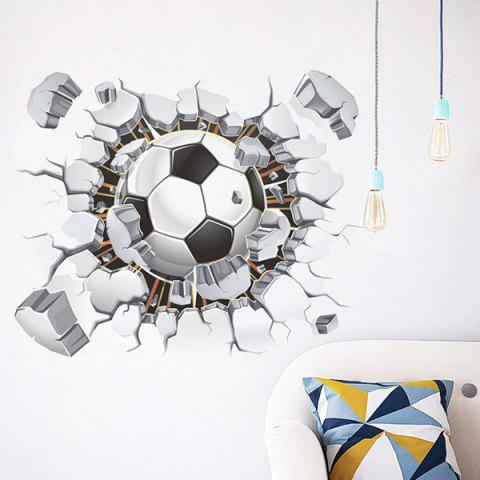 Latest 3D Football Broken Wall Removeable Wall Stickers Sports - COLORMIX  Mobile