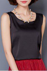 Graceful Solid Color Silky Tank Top For Women