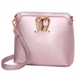 Elegant Solid Color and Sequins Design Crossbody Bag For Women - LIGHT PINK