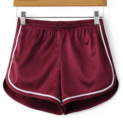 Sporty Dolphin Running Shorts - WINE RED S