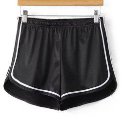 Sporty Dolphin Running Shorts - BLACK S
