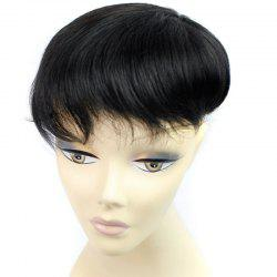Brazilian Human Hair Shaggy Natural Straight Stylish Clip-In Toupee