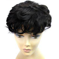 Fluffy Short Curly Vogue Clip In Brazilian Human Hair Toupee
