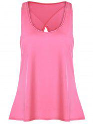 Slit Long Workout Gym Vest - Rose