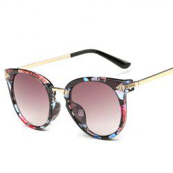 Chic Rhinestone and Arrow Shape Inlay Embellished Floral Sunglasses For Women -