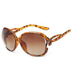 Tiny Bow Faux Amber Polarized Sunglasses - EARTHY