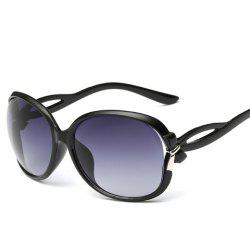 Tiny Bow Embellished Hollow Out Leg Affordable Polarized Sunglasses - BLACK