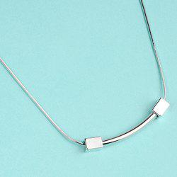 Retro Dumbbell Pendant Necklace -