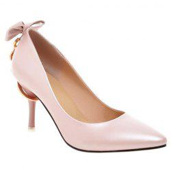Graceful Metallic and Bowknot Design Pumps For Women