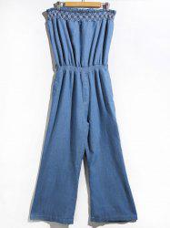Women's Stylish Strapless Denim Jumpsuit