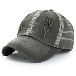 Chic Statue of Liberty Letters Embroidery Baseball Hat For Men -