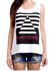 Fashionable Print Scoop Neck Tank Top For Women