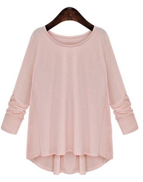 Latest Trendy Scoop Neck Bowknot Embellished Long Sleeves T-Shirt For Women