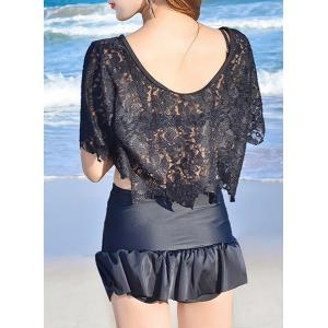 Attractive Ruffled Bikini and Cover-Up Swimwear Suit For Women -