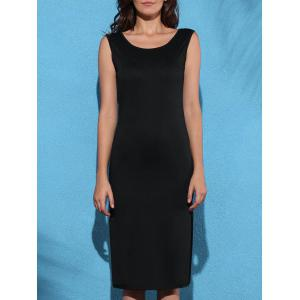 Stylish Scoop Neck Sleeveless Women's Backless High Slit Dress