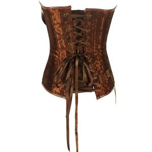 Vintage Strapless Buckle Lace-Up Corset For Women -